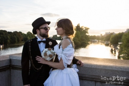 Steampunk Styled Wedding by 1Chapter Photography-36